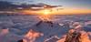 Über den Wolken.. ¦¦3¦¦ (PhiiiiiiiL) Tags: urnäsch appenzellausserrhoden schweiz ch säntis switzerland suisse sunset panorama