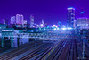 Rail town (稲垣一志) Tags: aichipref hdr japan koyabashi nagoyacity nagoyastation nightscape rail railway skyscraper train 名古屋市 名古屋駅 向野橋 夜景 愛知県 日本 線路 鉄道 電車 高層ビル群