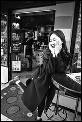 Jingūmae, Shibuya-ku, Tōkyō-to (GioMagPhotographer) Tags: tōkyōto peoplesingle girl shibuyaku jingumae eastofthesun leicamonochrom japanproject japan streetscene tokyo tkyto