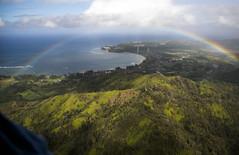 Rainbow Over Princeville, Kauai (Bill in DC) Tags: hi hawaii kauai sunshinehelicopters 2018 flight flights rainbow princeville