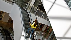 Stairway to heaven (Robi T) Tags: stairway modella model capture nikon vilnius jeans giallo yallow panele lietuva lithuania lituania lituana lithuanian hot sexy brunette bruna girl ragazza porn stair scale heaven paradise paradiso gedimino 9