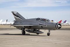 Mikoyan-Gurevich MiG-21UM Mongol-B N1165 - National Test Pilot School - Mojave (BenSMontgomery) Tags: mikoyangurevich mig21um mongolb n1165 national test pilot school mojave california ntps mongol fishbed mig21 mikoyan gurevich