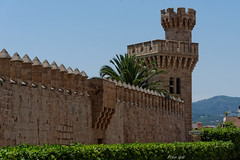 Palma de Mallorca. Wall with tower (Peter Goll thx for +6.000.000 views) Tags: 2014 mallorca urlaub palma spain spanien wall tower mauer turm insel island