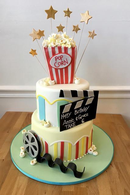 Movies Popcorn Birthday Cake
