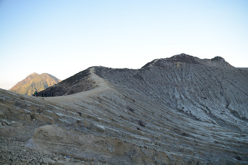 ijen火山路上