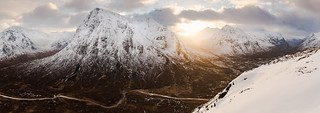 Buachille Etive Mor from Stob Beinn a'Chrulaiste, Scotland.  Arguably one of the best views in the UK.