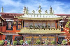 Jokhang temple, Lhasa, Tibet (大昭寺) (cattan2011) Tags: buddhism 拉萨 西藏 traveltuesday travelphotography travelbloggers travel ancient building architecturephotography architecture landscapephotography landscape jokhangtemple lhasa tibet 大昭寺