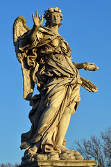 Angel with three fingers (Thomas Roland) Tags: angel engel vatican city vatikanet historical castel santangelo mausoleum hadrian bridge bro sculpture statue rome rom roma italia italy italien europe europa travel rejse holiday by stadt roman tourist tourism destination visitors