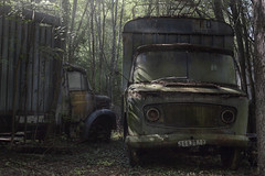 The circus has left town (andre govia.) Tags: abandoned andregovia decay decayed derelict decaying trespass transport truck woods creepy ghost film silenthill junk rusty crusty