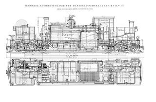 India Railways - Darjeeling Himalayan Railway (DHR) 0-4-0+0-4-0