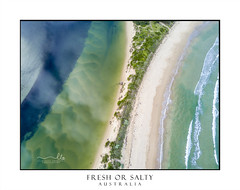 Fresh or Salty water- aerial views (sugarbellaleah) Tags: wave surf ocean river sanddune landscape aerial view perspective pretty amazing seascapescenic nature wonderful sand seashore riverbank levy colours texture colour aqua green blue beach vacation solitude travel tourism coast southcoast australia holiday spectacular downunder newsouthwales au