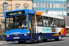 32768 M768 DRG 34 (Cumberland Patriot) Tags: stagecoach busways travel services limited ltd north east england newcastle tyne and wear pte passenger transport executive dennis dart plaxton pointer 1768 32768 m768drg b40f step entrance single deck saloon bus buses derv diesel engine road vehicle beachball swoops 34
