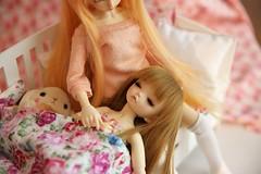 [ADAW 9] No Nightmares ♥ (SunShineRu) Tags: mnf miyu minifee littlefee ltf luna sleeping head amuse rabbit fairyland bjd ball jointed doll dolls family