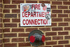 Connections (davekrovetz) Tags: sign bricks hydrant fuji brick x100s fujifilm red charlottesville virginia