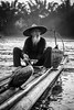 Cormorant Fisherman in Guilin (mlhell) Tags: animals blackwhite boats china cormorantfishermen cormorants guilin lijangriver nature portrait river rural xingping