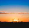 Rugby Skyline at Sunset (Alex G Hewitt) Tags: sunset landscape timeline