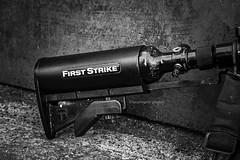 B&W 58/365 (lucyrogersphotography) Tags: gun shooting paintball paintballing paintballuk pbuk firststrike blackandwhite lucyrogersphoto