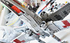 x-wing 009 (atlas_er) Tags: star wars episode 4 5 6 iv v vi red five squadron x wing xwing incom t65 t 65 t65b luke skywalker starfighter fighter ship lego moc space t65ca2 new hope battle yavin endor model minifig scale rogue one scarif blue