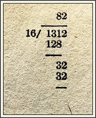 Answer (Bob R.L. Evans) Tags: bookpage dada abstract surreal math arithmetic division numbers course symbol simple unusual