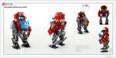 Raptor series: A.I. (Brixnspace) Tags: raptor walker frame powersuit suit lego moc toy biped space bot ai shopping mall