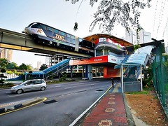 A walk around old KL (nhanbkvn) Tags: car carraige kualalumpur malaysia medantuanku monorail ricoh train