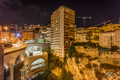 What Planning Permission? (Tim van Zundert) Tags: tower flats apartments cliff architecture frenchriviera cotedazur monaco montecarlo lacondamine landscape city cityscape night evening longexposure sony a7r voigtlander 21mm ultron