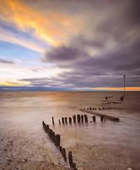 Zig-Zag (scarbrog) Tags: groynes eastcoast norfolk longexposure sea coast beach samyang