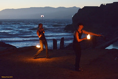 Sutro Baths (naturalturn) Tags: firedance firedancing firespinning fire dance dancing spinning firepoi firepoispinning poi poispinning couple ocean pacific pacificocean water twilight sutrobaths sutro baths pointlobos sanfrancisco california usa image:rating=4 image:id=199514