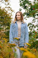 (LLOVGREEN) Tags: finland finnish turku girl lady miss beautiful pretty model modeling bikinifitness athlete jadeyolanda wellness fitness lifting momjeans jeans bluejeans blue female portrait portraitphoto style fall autumn colors colours fallcolors jeansjacket denimjacket woods park hill mediumlengthhair hairtastic wildheart woman turtleneck wild raw botanical portraiture rowanberries red green yellow orange flora flower flowers