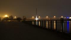 Walk in the fog (kersting18) Tags: fog bridge donau linz austria lights deep love sony alpha 77 tree night could place
