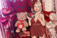Be my valentine... (Gabriella Marshdevil ~ Trying to catch up!) Tags: sl secondlife cute kawaii fameshed doll catwa elikatira mudskin astralia gacha valentine