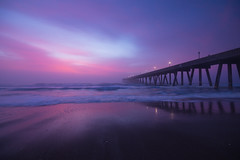 Juxtapostion (Theresa Rasmussen) Tags: wrightsvillebeach beach northcarolina obx sunrise sunset pastelskies atlanticocean