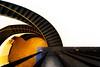 Berggruen (Maerten Prins) Tags: berlijn duitsland deutschland germany berlin berggruen museum stair stairs stairwell staircase spiral curve curves downshot round circle dark brown gold yellow black railing architecture