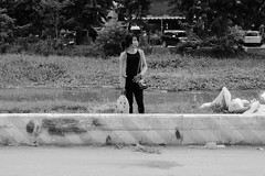 Waiting for the ride (gergelytakacs) Tags: angkor asia cambodge cambodia fareast kampuchea khmer kingdomofcambodia siemreap bw bag barrier blackandwhite blancoynegro bystander calle candid car city concrete documentary flâneur garbage girl grass handbag hitch monochrome photo photography polluted pollution public ride road roadside rubbish rubble rue smog space strada stranger strasenfotografie street streetphotographer streetphotography streetphotgraph streetphotgrapher streetphotgraphy streetphoto streets streetscape travel ulica unposed urban urbanphoto urbanphotographer urbanphotography utcafotó waiting water weeds woman улица רחוב ក្រុងសៀមរាប ព្រះរាជាណាចក្រកម្ពុជា