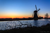At the Boezemmolen (Stephan Neven) Tags: windmill sunrise boezemmolen haastrecht netherlands water polder landscape morning light branch