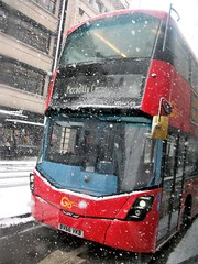 London General WHV128 on route 14 Piccadilly 28/02/18. (Ledlon89) Tags: bus buses london transport tfl londonbus londonbuses londontransport snow winter weather