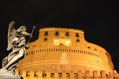 Castel Sant'Angelo (M Malinov) Tags: roman roma rome lazio italy europe eu city capital castle santangelo италия рим замък сантанжело столица европа building architecture monument night light museum mausoleum hadrian emperor statue angel figure