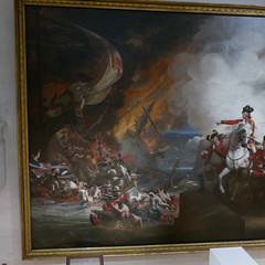 Defeat of the Floating Batteries at Gibraltar, 1782. (1783 - 91). Guildhall Art Gallery. London. 13th Jan '18. P1930765 (Imagine Bill) Tags: london guildhallartgallery defeatofthefloatingbatteriesatgibraltar 1782 johnsingletoncopley