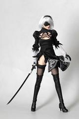 Nier Automata : YoRHa 2B (TKatagiri) Tags: superduck 2b nier automata 16 figurine gothic lolita valkyrie thore helmet black cosplay set15 onesixth phicen review yorha no2 typeb tbleague