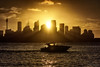 Sun cruiser (Crouchy69) Tags: sunset dusk landscape seascape ocean sea water coast city building cbd skyline cityscape boat cruiser sydney harbour australia