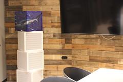3D Optik - Raumelement Hai (nonoiz acoustic elements) Tags: style art lifestyle modern effektiv colour pattern interior wall wand room raum nonoiz acoustic elements akustik lösung solution business noize laut leise silence design