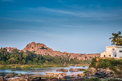 On the bank of Tungavadra (somabrata) Tags: hampi karnataka