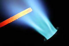 Hot wire (lenswrangler) Tags: lenswrangler digikam macromondays flame blue orange red hot heat torch propane copper wire macro