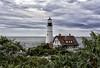 A different view... {Explored 47} (Jeananne Martin) Tags: portland capeelizabeth explored lighthouse ocean atlantic maine sky