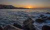 Marbella sunrise #2 (Dan Österberg) Tags: marbella spain beach sunrise morning early sand water sea mediterranean europe andalusia costadelsol waves rocks landscape