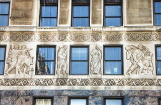 Chicago Illinois - 333 North Michigan Ave - Art Deco - Exterior reliefs - 1918 Skyscraper