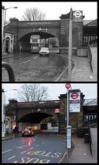Barnes Bridge station (Tetramesh) Tags: tetramesh london england britain greatbritain gb unitedkingdom uk localhistory nowandthen thenandnow pastandpresent oldlondon lostlondon presentandpast londonpastandpresent londonnowandthen londonthenandnow londonpast socialhistory uklocalhistory londonlocalhistory transporthistory londonstransportpastandpresent londonstransportnowandthen londonstransportthenandnow britishrailways britishrail networksoutheast railtrack networkrail barnesbridge barnesbridgestation theterrace sw13 sw130np londonboroughofrichmonduponthames barnes southwesternrailway hounslowloopline aec routemaster aecroutemaster doubledeckerbus a3003 busstop bus londonbus drneilclifton southwesttrains 12thmarch
