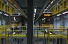 Old & new. (Azariel01) Tags: 2018 belgique belgie belgium bruxelles brussels marconi dépôt stelplaats remise tram lightrail stib mivb pcc under endessous fosse pit bombardier flexityoutlook