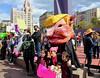 Another Photo-Op With the Trump-Pig (Robb Wilson) Tags: freephotos losangeles antigunviolencerally antitrumpetalrally pershingsquarepark downtownla trumppighead pinkhatsandpinksigns