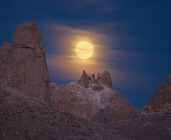 Romancing the Supermoon (story in description) (DM Weber) Tags: supermoon super moon moonrise new years day romantic couple man woman trona pinnacles landscape california psa148 dmweber